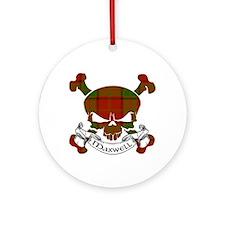 Maxwell Tartan Skull Ornament (Round)