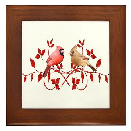 Love Birds Framed Tile
