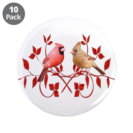 "Love Birds 3.5"" Button (10 pack)"