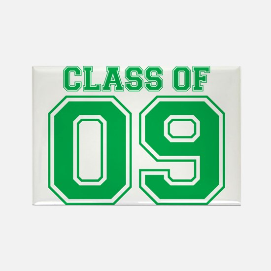 Class Of 09 (Green Varsity) Rectangle Magnet (100