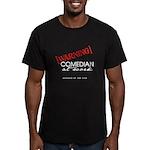Warning: Comedian Men's Fitted T-Shirt (dark)