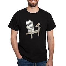 Adirondack Chair Black T-Shirt