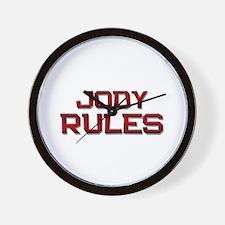 jody rules Wall Clock