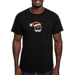 Alien Santa Men's Fitted T-Shirt (dark)