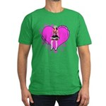 Female Valentine Wanted (Pink Men's Fitted T-Shirt