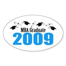 MBA Graduate 2009 (Blue Caps And Diplomas) Decal