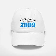 MBA Graduate 2009 (Blue Baseball Baseball Caps And Diplomas) Baseball Baseball Cap