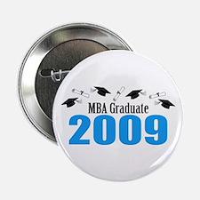 "MBA Graduate 2009 (Blue Caps And Diplomas) 2.25"" B"