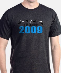 MBA Graduate 2009 (Blue Caps And Diplomas) T-Shirt