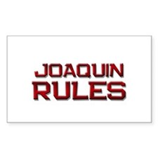 joaquin rules Rectangle Decal