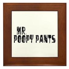 Mr. Poopy Pants Framed Tile