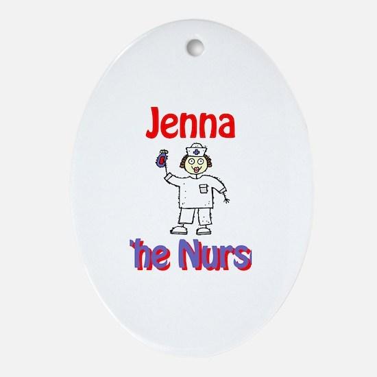 Jenna - The Nurse Oval Ornament