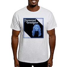 Blue Lady Paranormal Inv. Ash Grey T-Shirt