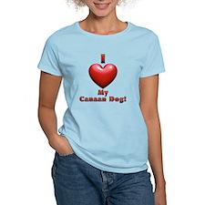 I Heart My Canaan Dog! T-Shirt