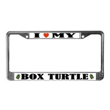 I Heart My Box Turtle License Plate Frame