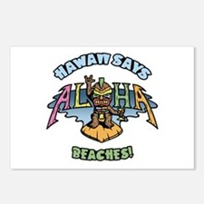 Aloha Beaches Postcards (Package of 8)