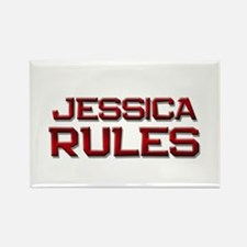 jessica rules Rectangle Magnet