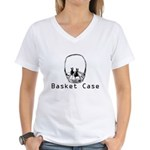 basket case Women's V-Neck T-Shirt
