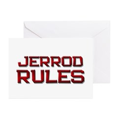 jerrod rules Greeting Cards (Pk of 10)