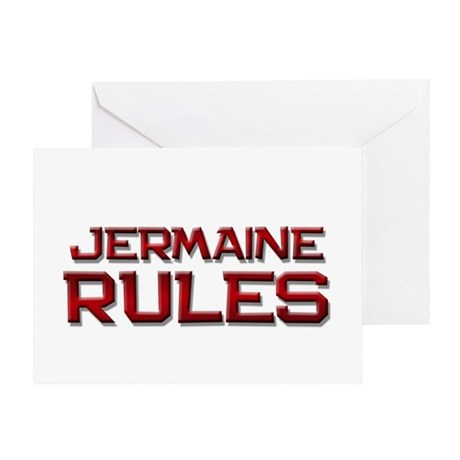 jermaine rules Greeting Card