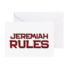 jeremiah rules Greeting Card