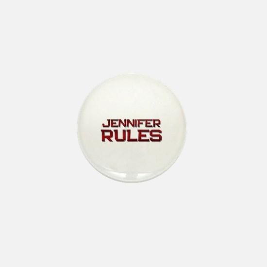 jennifer rules Mini Button