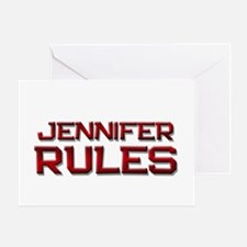 jennifer rules Greeting Card