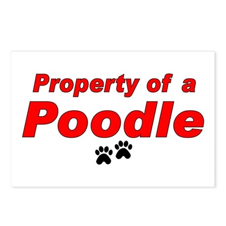 Poodle Prop Postcards (Package of 8)