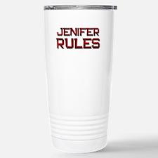 jenifer rules Stainless Steel Travel Mug