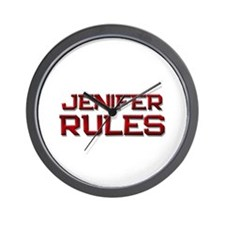 jenifer rules Wall Clock
