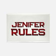 jenifer rules Rectangle Magnet