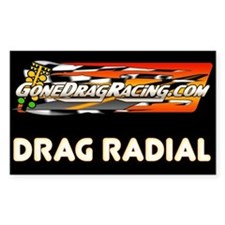 "Drag Radial 3""x5"" Decal"