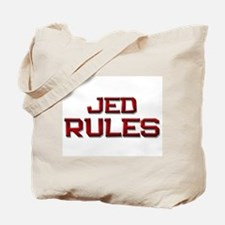jed rules Tote Bag