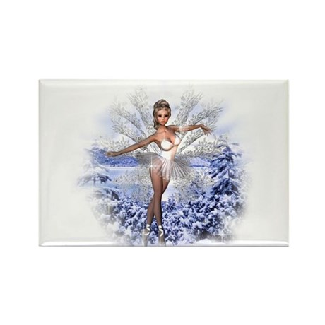 Snowflake Fairy Rectangle Magnet