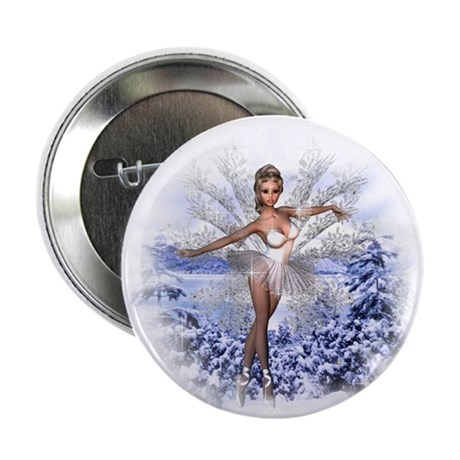 """Snowflake Fairy 2.25"""" Button (10 pack)"""