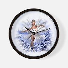 Snowflake Fairy Wall Clock