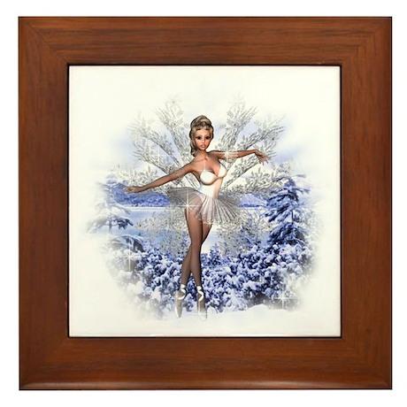 Snowflake Fairy Framed Tile