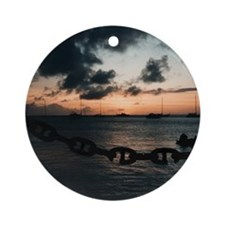 "Bequia ""Apres Dive"" Ornament (Round)"