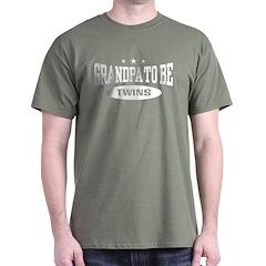 Grandpa To Be Twins T-Shirt