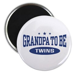 Grandpa To Be Twins Magnet