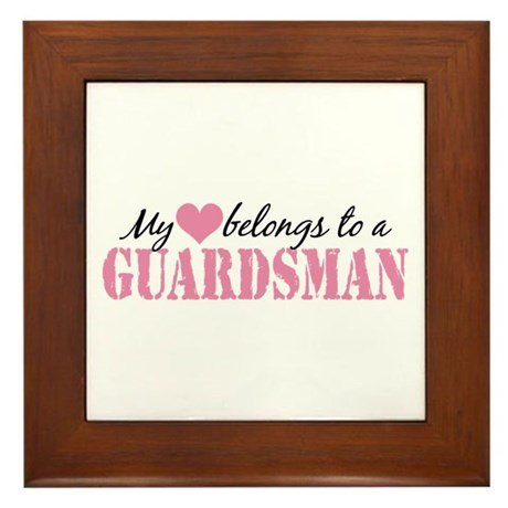 My Heart Belongs To a Guardsman Framed Tile