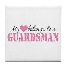 My Heart Belongs To a Guardsman Tile Coaster