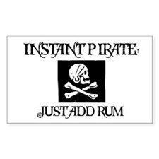 Just Add Rum Rectangle Decal