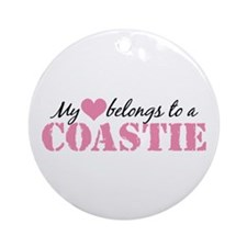 My Heart Belongs To a Coastie Ornament (Round)