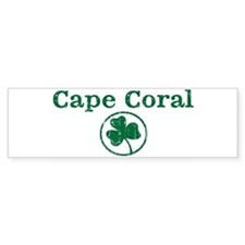 Cape Coral shamrock Bumper Car Sticker
