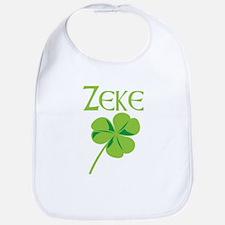 Zeke shamrock Bib