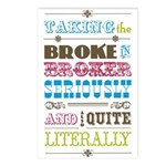 Broke in Broker Postcards (Package of 8)