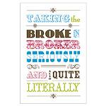 Broke in Broker Large Poster