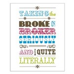 Broke in Broker Small Poster