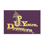 Up Yours Downturn Mini Poster Print